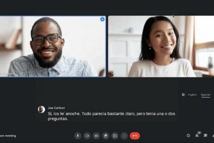 Google Meet: llegó la función de traducción en tiempo real