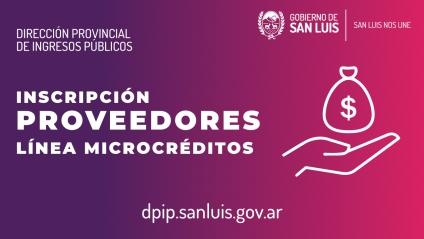 Microcréditos, se inscribieron 169 proveedores