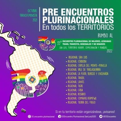 Pre Encuentro Plurinacional de Mujeres y Disidencias - Hacia el 35 Encuentro San Luis 2022