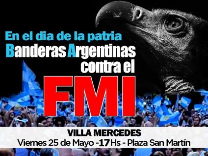 Banderas Argentinas contra el F.M.I