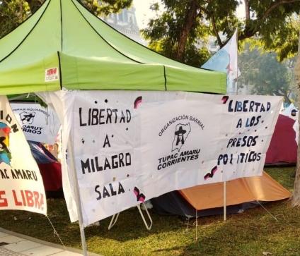 Acampe por Milagro Sala: «El gobierno debería tomarlo como una muestra de fortaleza»
