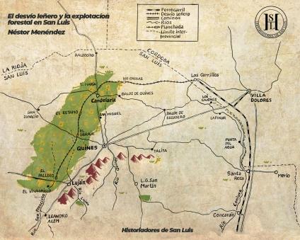 El Ferrocarril leñero y la explotación forestal en San Luis